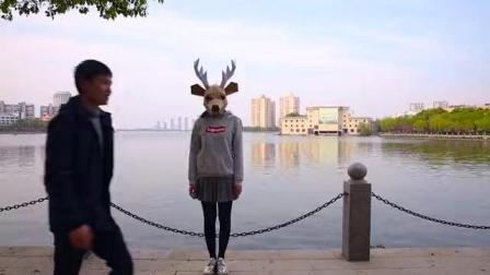 震惊! 鹿人惊现南京路, 他们要干嘛?