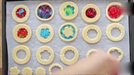 彩色玻璃糖还可以做出这么漂亮的饼干, 为大厨点赞啊