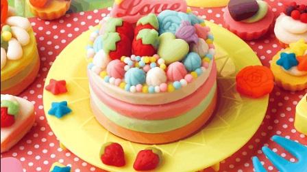 小猪佩奇生日蛋糕 海底小纵队芭比娃娃玩具