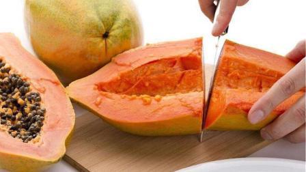 教你这样切木瓜, 才明白前20年的木瓜白吃了, 不浪费一滴汁, 很赞