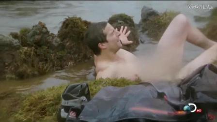 在零下40度的冰岛, 贝爷还可以制出热水浴
