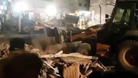 印度汽车撞塌旅馆已致10死 仍有多名人员被埋