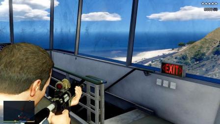 GTA5 老麦被五星通缉无路可走, 最后丢了几枚毒气弹
