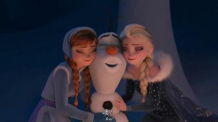 冰雪奇缘雪宝是艾莎和安娜一起创造出来的
