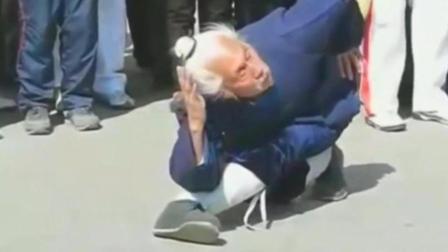 90岁武当老道长下山习武, 身手敏捷掌法独特, 神似武侠张三丰!