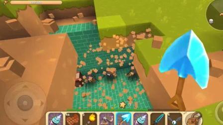 《迷你世界生存》: 这一铲下去就是一个露天地牢, 真的太厉害了