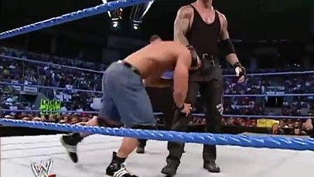 送葬者VS约翰塞纳经典对战视频, 这才是WWE的精神! 永不放弃