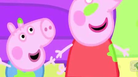 小猪佩奇: 猪爸爸用砖补好大洞, 最后粉刷好跟新的一样