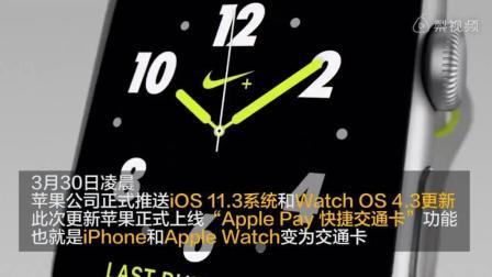 又多了一个购买苹果手机的理由, iPhone+watch等于交通卡
