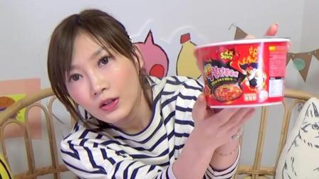日本大胃王木下佑香六桶变态辣火鸡面