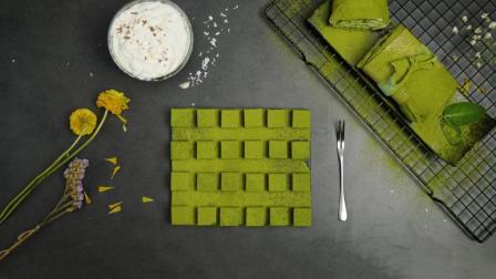 魔力美食 第一季 比脏脏包还火的抹茶毛巾卷 有平底锅就能做 抹茶控百分之百会爱上