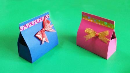 手工折纸糖果礼物盒, 八个步骤完成, 女孩子都喜欢手工折纸教程