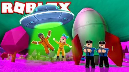 【Roblox越狱】疯狂外星人入侵城镇! 体验头号玩家钥匙任务! 小格解说 乐高小游戏