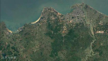 卫星地图看海口30年发展, 跨河越林三面伸展