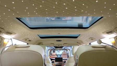 奔驰V260改装航空座椅, 舒适度不输S级, 商务居家两相宜。