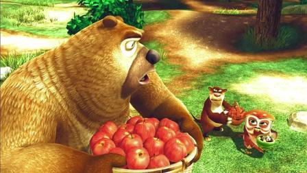 熊出没 吉吉毛毛在森林里卖葡萄干大家抢着买 这销售太厉害了