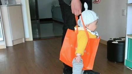 爸爸自制的学步带, 宝宝在里面走的不亦乐乎!