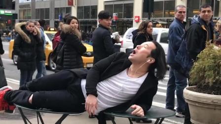敢在公共场所这么唱歌吗? 路人听完都笑出了猪叫!