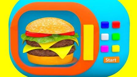 汉堡包微波炉玩具视频