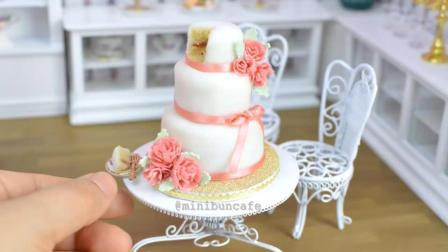 我竟然看完了。。。粉色康乃馨迷你翻糖迷你蛋糕制作过程