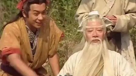 封神榜, 姜太公钓鱼, 老不上钩, 哪吒雷震子看不下去请来河神询问
