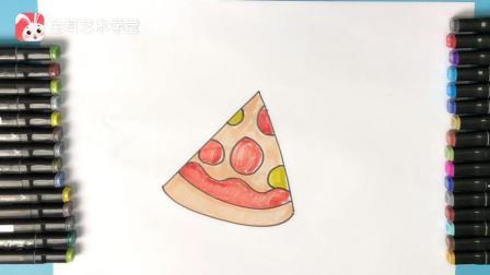 教你画披萨, 美食简笔画必备, 快学起来