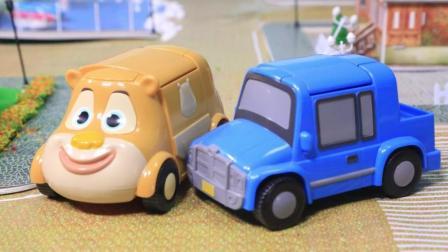 熊出没之探险日记熊熊乐园动画片精华版, 光头强与熊二交通事故了
