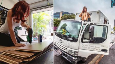 女神开着货车去旅行! 小破货改造成房车, 内部设施齐全!