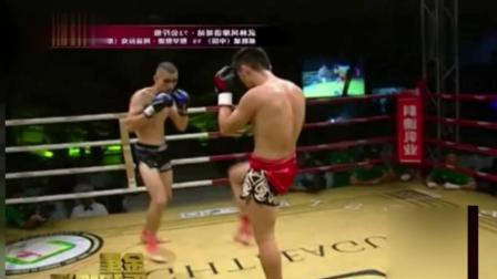 中国小伙在国外强势KO当地民族英雄, 逆天摆拳令对手站着失忆!