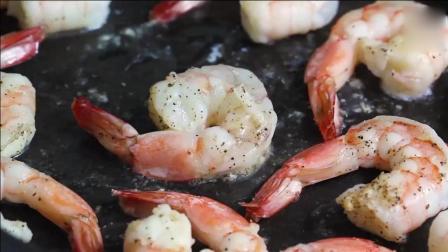 做法简单的虾仁炒花菜沫, 味道比蛋炒饭好多了!