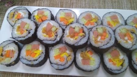 紫菜包饭这样做, 一锅米饭吃光, 你们哪里是怎么做的呢?