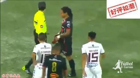 梅西C罗被铲掉球鞋后反应截然不同, 用鞋打裁判不知得禁赛多少场