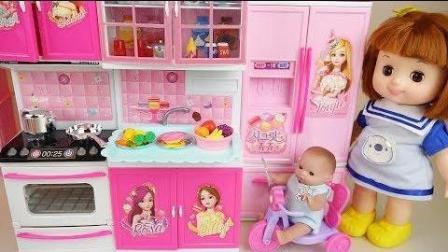 0393 - 婴儿娃娃厨房和烹饪玩具娃娃玩