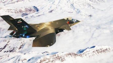 伊朗罕见的翼上进气, 下弯机翼的F313战斗机, 号称第五代战斗机