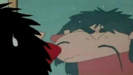 蜡笔小新: 小新全身长满了毛, 哭着求美伢不要卖他到动物园