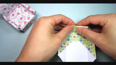 儿童趣味手工折纸: 简单的迷你小沙发折法
