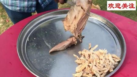印度田间地头吃什么? 羊腿和鸡肉炒面