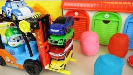 0405 - 叉车和汽车玩具与惊喜玩耍玩