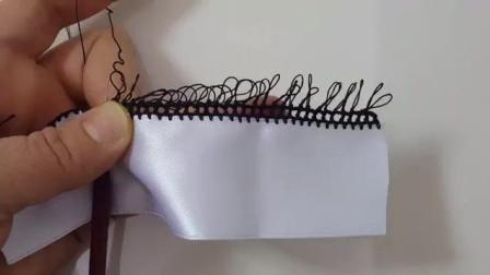针迹花边模板编织设计-教程