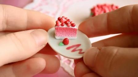 神奇! 这个蛋糕比手指还小? 上面的草莓太逼真了, 最后一刀太舒服了