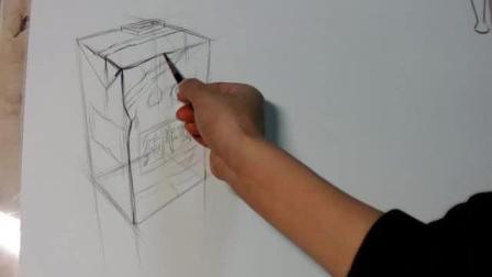 王光芹素描系统教学06-牛奶盒结构素描