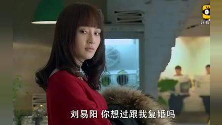 《裸婚时代》童佳倩就问刘易阳, 你想过和我复婚吗? 文章一个表情佳倩立马走了