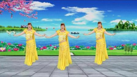 新疆舞曲《欢乐的跳吧》动感时尚三姐妹 跳的真美