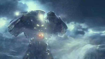 钢铁巨人太平洋里打怪兽