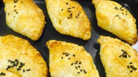 蛋挞皮别只会做蛋挞, 把芒果放在里面, 出锅变成外酥里滑的芒果酥