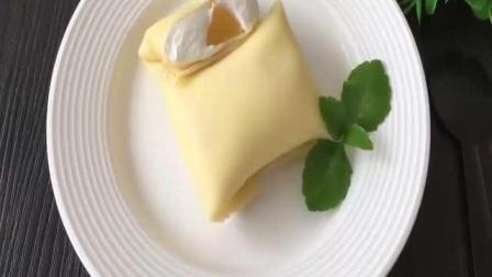 君之烘焙视频教程蛋挞 黄桃班戟的制作方法 烘焙可颂视频教程