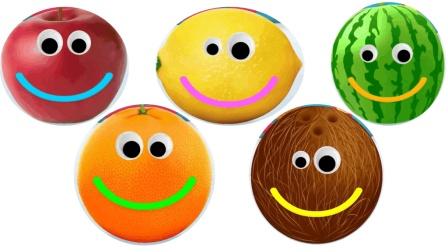 色彩笑脸水果很甜色彩英语水果英语儿童英语少儿英语ABC