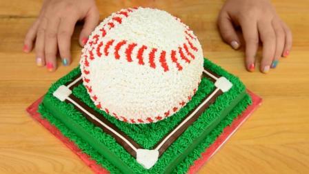 我的天, 10比1真实还原棒球的蛋糕, 看我一口吃掉上面的100朵樱花!