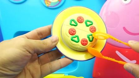 小猪佩奇厨房煎蛋的过家家玩具