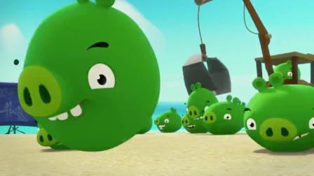 愤怒的小鸟精彩动漫: 猪猪劳动力, 好吃懒做的它也行动起来啦